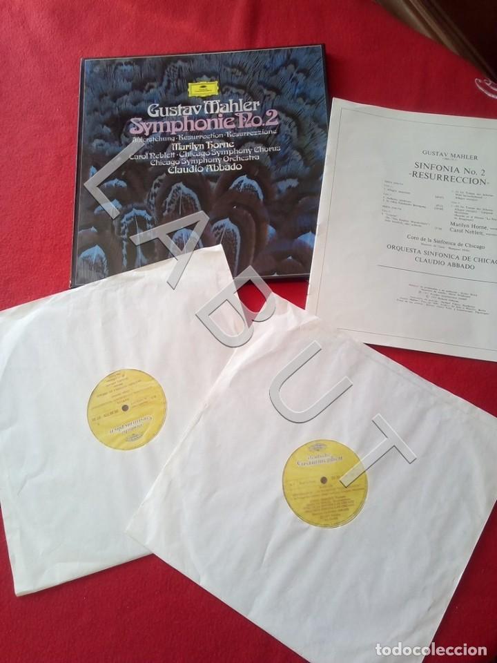 GUSTAV MHALER SYMPHONIE Nº 2 MARILYN HORNE CLAUDIO ABBADO 2707 094 LP D4 (Música - Discos - LP Vinilo - Clásica, Ópera, Zarzuela y Marchas)