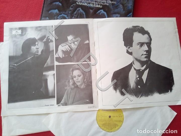 Discos de vinilo: GUSTAV MHALER SYMPHONIE Nº 2 MARILYN HORNE CLAUDIO ABBADO 2707 094 LP D4 - Foto 3 - 221464452
