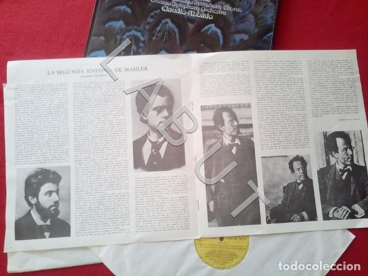 Discos de vinilo: GUSTAV MHALER SYMPHONIE Nº 2 MARILYN HORNE CLAUDIO ABBADO 2707 094 LP D4 - Foto 4 - 221464452