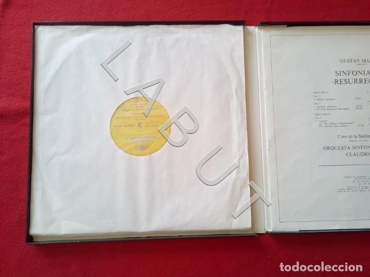Discos de vinilo: GUSTAV MHALER SYMPHONIE Nº 2 MARILYN HORNE CLAUDIO ABBADO 2707 094 LP D4 - Foto 5 - 221464452