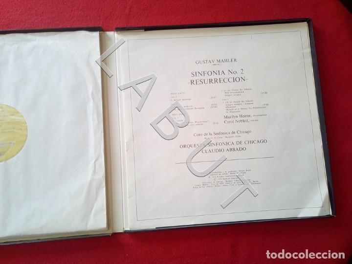 Discos de vinilo: GUSTAV MHALER SYMPHONIE Nº 2 MARILYN HORNE CLAUDIO ABBADO 2707 094 LP D4 - Foto 6 - 221464452