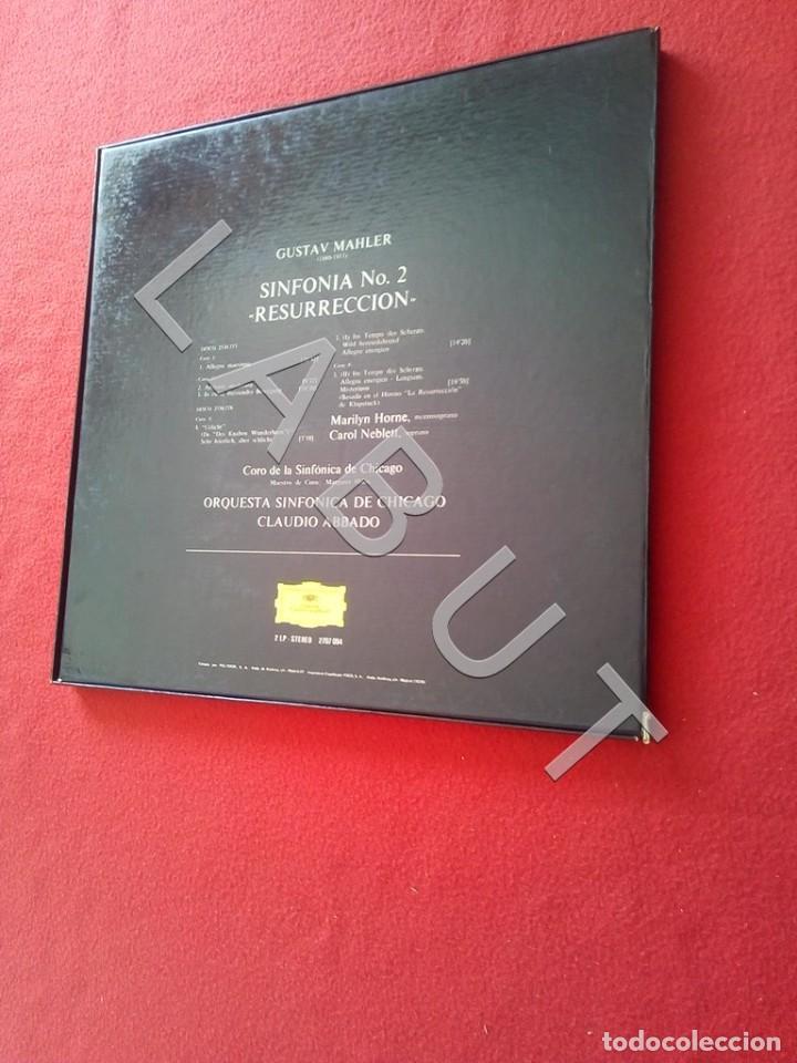 Discos de vinilo: GUSTAV MHALER SYMPHONIE Nº 2 MARILYN HORNE CLAUDIO ABBADO 2707 094 LP D4 - Foto 7 - 221464452