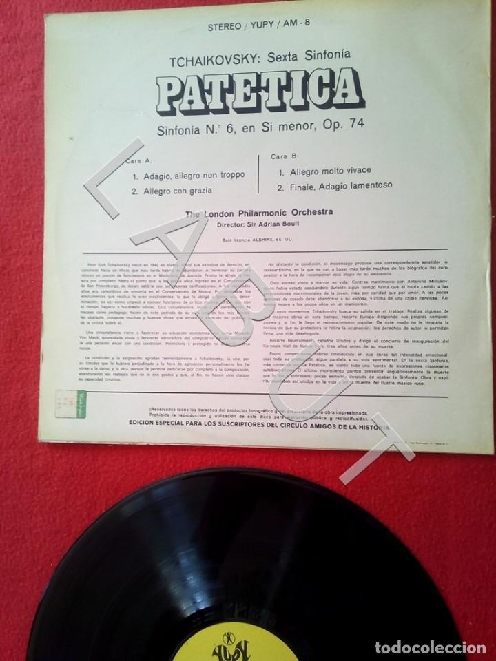 Discos de vinilo: TCHAIKOVSKY SEXTA SINFONIA PATÉTICA ADRIAN BOULT LP D4 - Foto 4 - 221464990