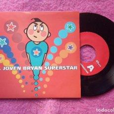 Discos de vinilo: EP EL JOVEN BRYAN SUPERSTAR - ABRIGADOS / REGENT'S PARK +2 - SIESTA 21 - (NM/NM). Lote 221465151