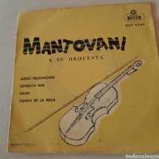 Discos de vinilo: MANTOVANI Y SU ORQUESTA - ADIOS MUCHACHOS + 3. Lote 221470976