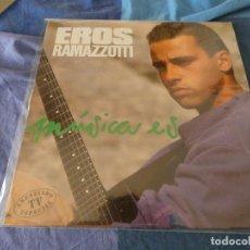 Discos de vinilo: EXPRO LP EROS RAMAZZOTTI MUSICA ES 1988 MUY BUEN ESTADO. Lote 221472001