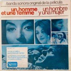 Discos de vinilo: UN HOMBRE Y UNA MUJER FRANCIS LAI. NICOLE CROISILLE.. BANDA SONORA ORIGINAL. EP ESPAÑA 1966. Lote 221475167