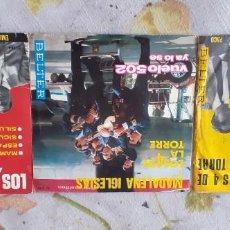Discos de vinilo: PACK 3 SINGLES LOS 4 DE LA TORRE. Lote 221475352