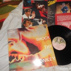 Discos de vinilo: MAXI PETER GABRIEL SHOCK THE MONKEY / SOFT DOG, 1982 SPAIN +DESPLEGABLE FOTOS, ROCK PROGRESIVO. Lote 221476578