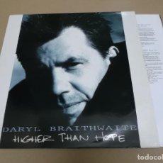 Discos de vinilo: DARYL BRAITHWAITE (LP) HIGHER THAN HOPE AÑO 1991 – PROMOCIONAL – HOJA CON LETRAS. Lote 221485578