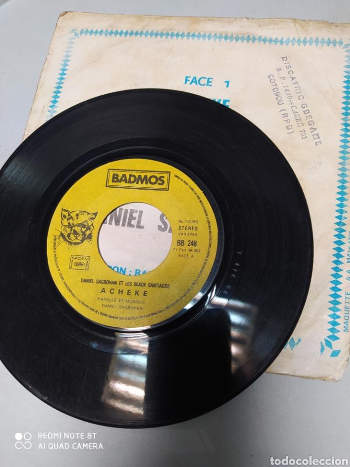 Discos de vinilo: Daniel Sagbohan Et Les Black Santiagos - Acheke. single original costa de marfil - Afro-latin - Foto 2 - 221487880