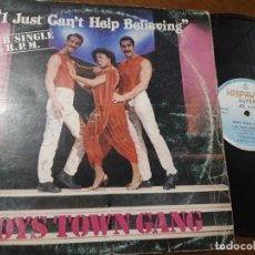 Discos de vinilo: BOYS TOWN GANG: I JUST CAN'T HELP BELIEVING , MAXI-SPAIN 1983. Lote 221493277