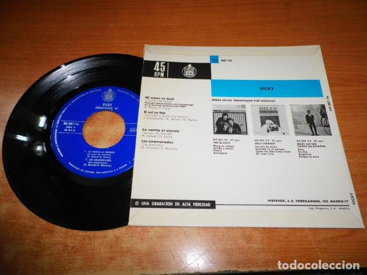 Discos de vinilo: VICKY Mi amor es azul EUROVISION 1967 EP VINILO DEL AÑO 1967 ESPAÑA CONTIENE 4 TEMAS - Foto 2 - 221494450