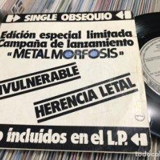 Discos de vinilo: BARON ROJO SINGLE PROMOCIONAL METALMORFOSIS. Lote 221499693