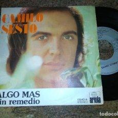 Discos de vinilo: CAMILO SESTO / ALGO MAS / SINGLE 45 RPM / ARIOLA. Lote 221500791