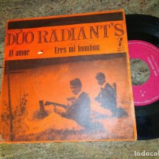 Disques de vinyle: DUO RADIANTS / EL AMOR - ERES MI BOMBON / SINGLE 45 RPM / ZAFIRO. Lote 221502715