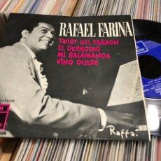 Discos de vinilo: RAFAEL FARINA EP TWIST DEL FARAON +3. Lote 221505573