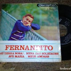 Discos de vinilo: FERNANDITO / AY TERRA NOSA / EP 45 RPM / DISCOPHON 1964. Lote 221510160