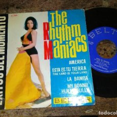 Dischi in vinile: THE RHYTHM MANIACS / EXITOS DEL MOMENTO / EP 45 RPM / BELTER 1964. Lote 221511820