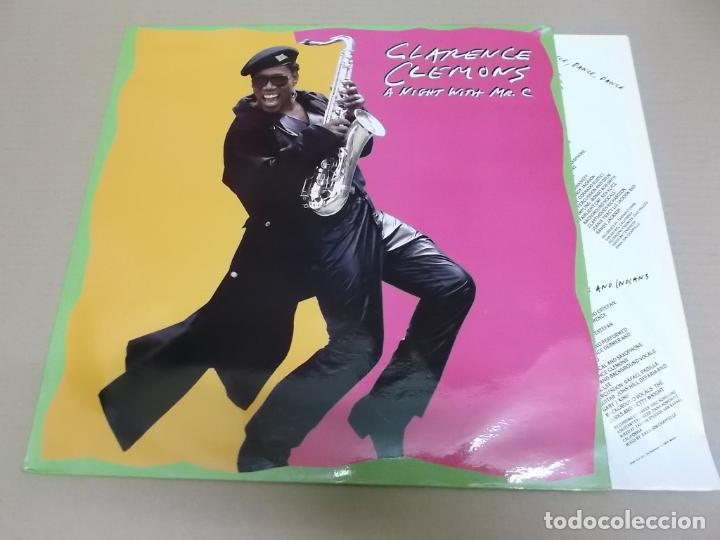 CLARENCE CLEMONS (LP) A NIGHT WITH MR. C AÑO 1989 – ENCARTE CON CREDITOS (Música - Discos - LP Vinilo - Funk, Soul y Black Music)