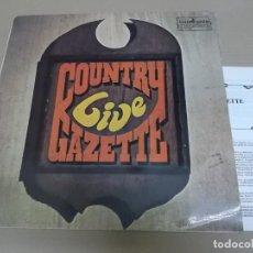 Discos de vinilo: COUNTRY GAZETTE (LP) LIVE AÑO 1975-1981 – LIBRETO CON LETRAS Y BIOGRAFIA. Lote 221514485