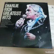 Discos de vinilo: CHARLIE RICH (LP) GREATEST HITS AÑO 1976 – HOJA PROMOCIONAL. Lote 221514778