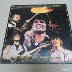Discos de vinilo: CLIFF RICHARD & THE SHADOWS (LP) THANK YOU VERY MUCH-REUNION CONCERT AT THE LONDON PALLADIUM AÑO 197. Lote 221514978