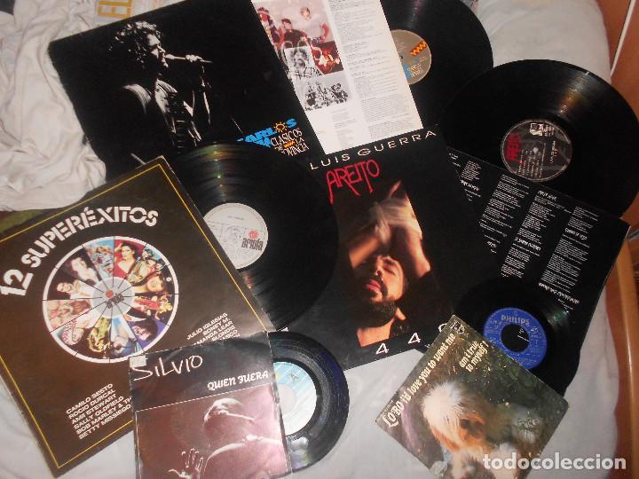 LOTE CARLOS VIVES JUAN LUIS GUERRA SILVIO RODRIGUEZ MARLEY LOBO AMI STEWART..FOLK, ROCK (Música - Discos - LP Vinilo - Country y Folk)