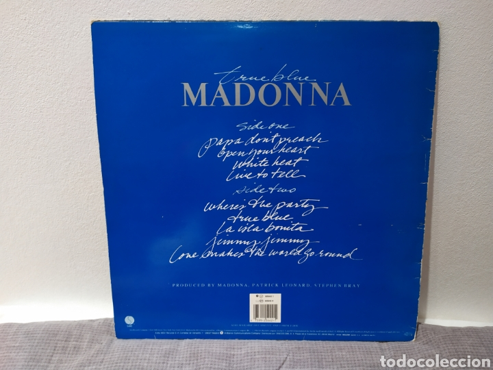Discos de vinilo: Madonna - True Blue - 925442-1 - Spain - Foto 2 - 221515871