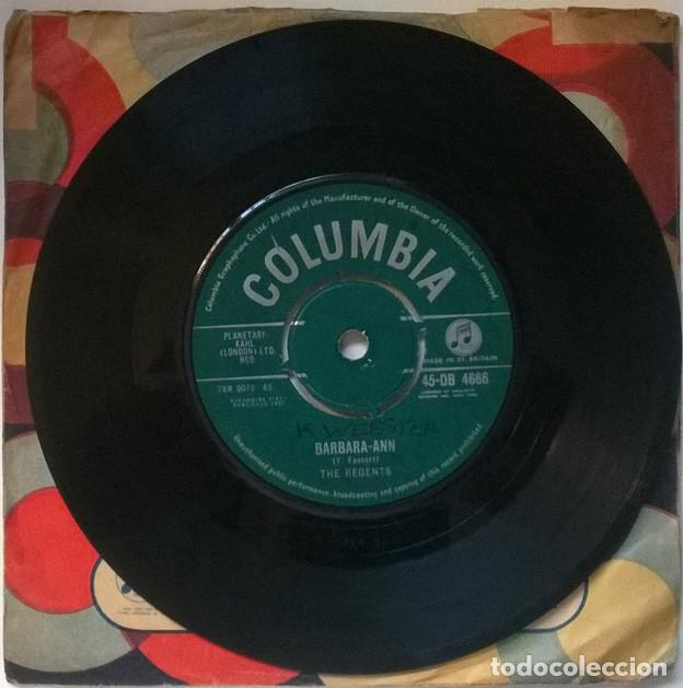 Discos de vinilo: The Regents. Barbara-Ann/ Im so lonely. Columbia, UK 1961 single - Foto 2 - 221515887