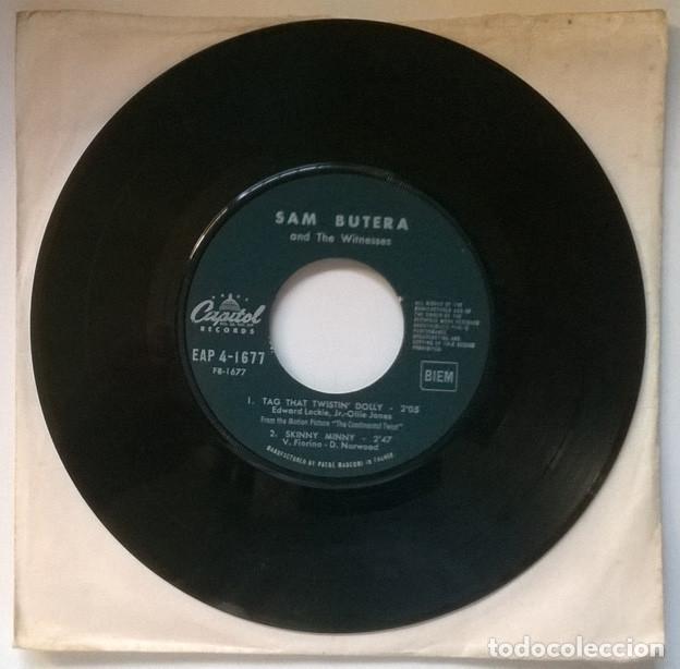 Discos de vinilo: Sam Butera & the Witnesses/ Louis Prima. Twist all night/ Come & do/ Tag that Dolly/ Skinn Minny ep - Foto 2 - 221516976