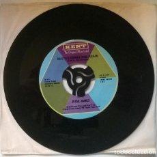 Discos de vinilo: JESSE JAMES. RED HOT ROCKIN BLUES/ SOUTH'S GONNA RISE AGAIN. KENT, USA 1958 RE SINGLE. Lote 221518068