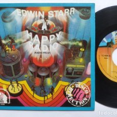 Discos de vinilo: EDWIN STARR - 45 SPAIN PS - MINT - HAPPY RADIO - COMO NUEVO. Lote 221521105