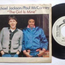 Discos de vinilo: MICHAEL JACKSON / PAUL MCCARTNEY - 45 SPAIN PS - PROMO WL - THE GIRL IS MINE. Lote 221521150