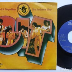 Discos de vinilo: THE JACKSON 5 - 45 SPAIN PS - EX * GET IT TOGETHER * TAMLA MOTOWN. Lote 221521817
