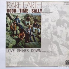 Discos de vinilo: RARE EARTH - SPAIN PS - MINT * GOOD TIME SALLY SE VENDE SÓLO PORTADA SIN VINILO EN INTERIOR. Lote 221521931