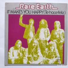 Discos de vinilo: RARE EARTH - SPAIN PS - MINT * IT MAKES YOU HAPPY * SE VENDE SÓLO PORTADA SIN VINILO EN INTERIOR. Lote 221521941