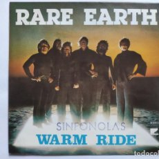 Discos de vinilo: RARE EARTH - SPAIN PS - MINT * WARM RIDE * SE VENDE SÓLO PORTADA SIN VINILO EN INTERIOR. Lote 221521953