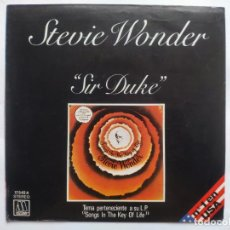 Discos de vinilo: STEVIE WONDER - SPAIN PS - MINT * SIR DUKE * SE VENDE SÓLO PORTADA SIN VINILO EN INTERIOR. Lote 221521972