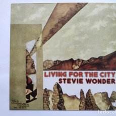 Discos de vinilo: STEVIE WONDER - SPAIN PS - MINT * LIVING FOR THE CITY * SE VENDE SÓLO PORTADA SIN VINILO EN INTERIOR. Lote 221522000