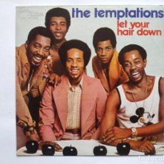 Discos de vinilo: THE TEMPTATIONS- SPAIN PS - MINT * LET YOUR HEAR DOWN *SE VENDE SÓLO PORTADA SIN VINILO EN INTERIOR. Lote 221522038