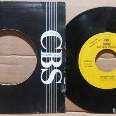 Discos de vinilo: THE REAL PEOPLE / WINDOW PANE / SINGLE 7 INCH. Lote 221524567