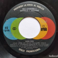 Discos de vinilo: DIANA ROSS - SINGLE PROMO ESPAÑOL - UPSIDE DOWN -. Lote 221524867