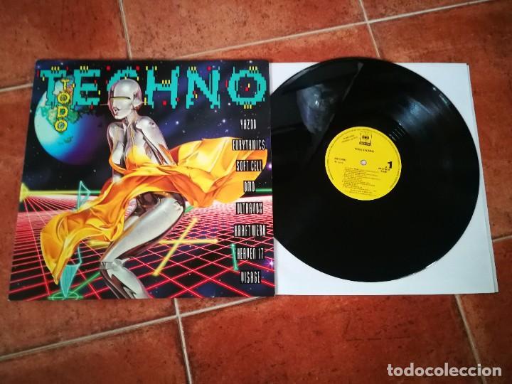 TODO TECHNO MAXI SINGLE VINILO PROMO ESPAÑA 1992 EURYTHMICS OMD YAZOO ULTRAVOX KRAFTWERK HEAVEN 17 (Música - Discos - LP Vinilo - Grupos Españoles de los 90 a la actualidad)