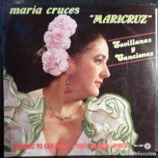 Discos de vinilo: MARIA CRUCES // MARICRUZ // 1985 // (VG VG). LP. Lote 221532488