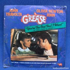 Discos de vinilo: SINGLE JOHN TRAVOLTA, OLIVIA NEWTON JOHN - YOU'RE THE ONE THAT I WANT - GREASE - ESPAÑA - AÑO 1978. Lote 221532897
