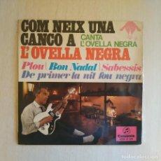 Discos de vinilo: L'OVELLA NEGRA (JORDI PÉREZ) - PLOU + 3 - RARO EP SELLO COLUMBIA AÑO 1967 TRICENTRO INTACTO EX / EX. Lote 221537851