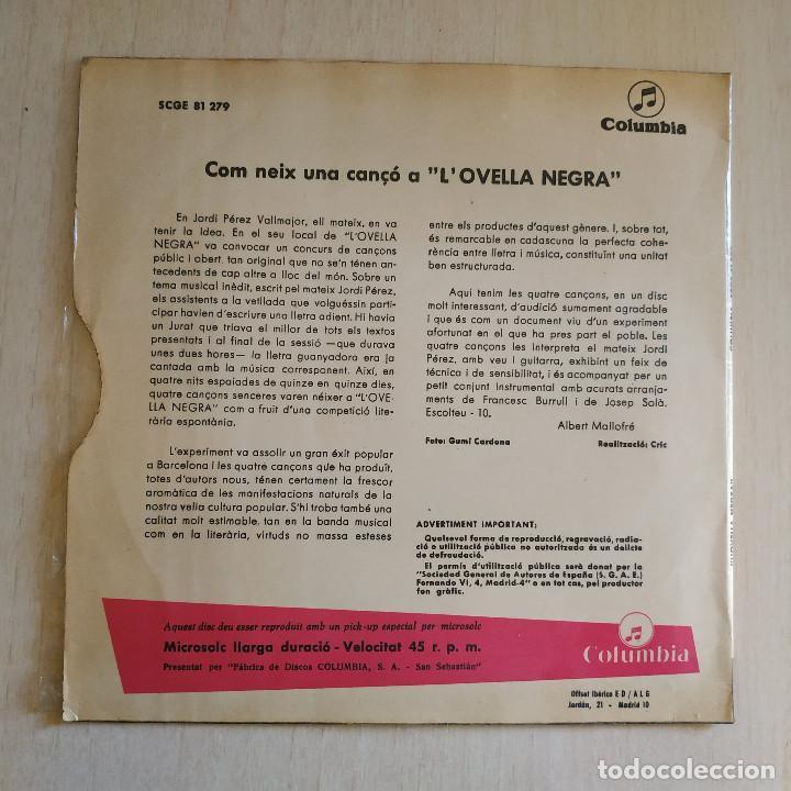 Discos de vinilo: LOvella Negra (Jordi Pérez) - Plou + 3 - Raro EP Sello Columbia Año 1967 Tricentro Intacto EX / EX - Foto 2 - 221537851