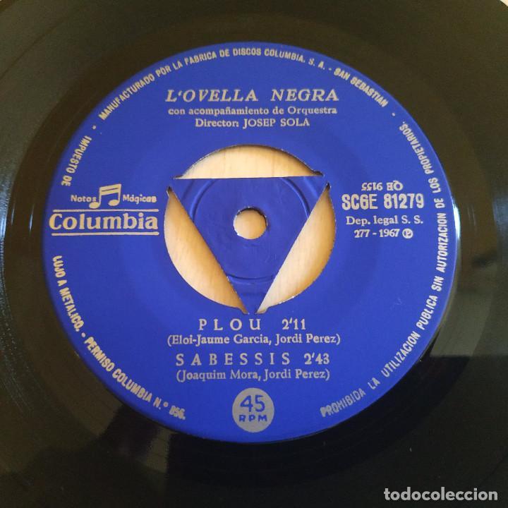 Discos de vinilo: LOvella Negra (Jordi Pérez) - Plou + 3 - Raro EP Sello Columbia Año 1967 Tricentro Intacto EX / EX - Foto 3 - 221537851