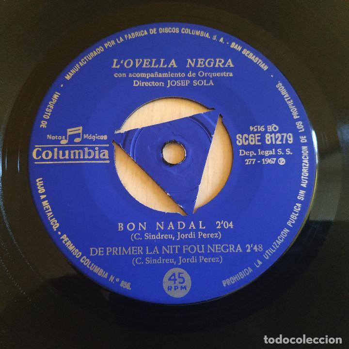 Discos de vinilo: LOvella Negra (Jordi Pérez) - Plou + 3 - Raro EP Sello Columbia Año 1967 Tricentro Intacto EX / EX - Foto 4 - 221537851